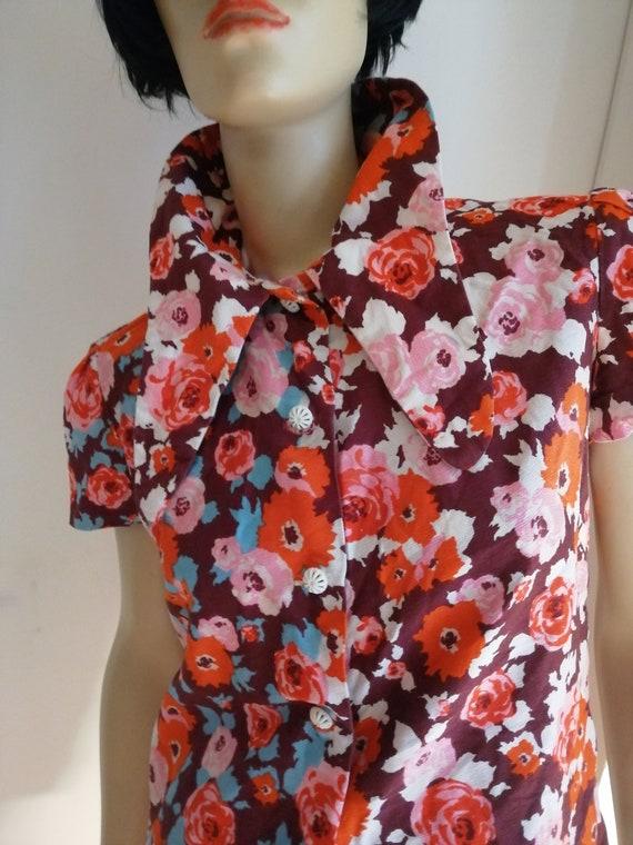 Vintage dagger big points collar shirt /blouse siz