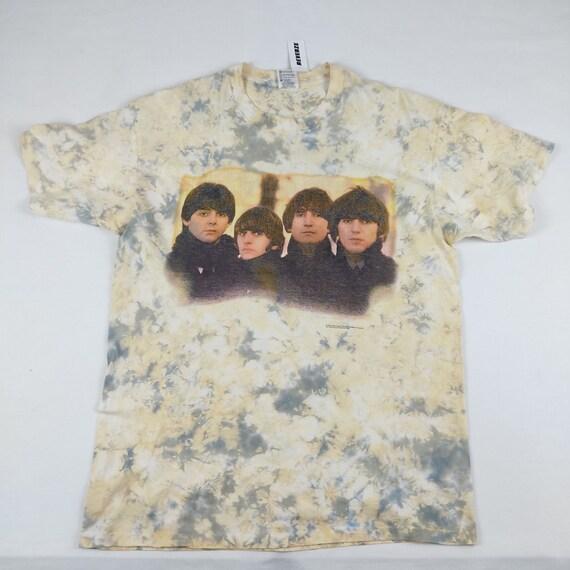 Vintage The Beatles Tie Dye T-shirt 90s - image 1