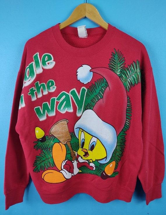 Vintage Tweety Sweater 90s Christmas