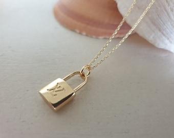 db7f344377 Louis Vuitton Mini Lock Charm Necklace