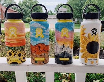 Painted Hydroflask Etsy