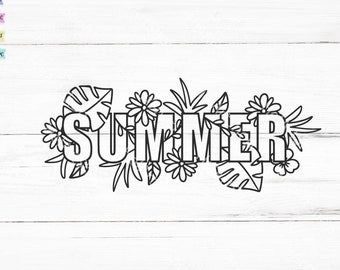 Summer svg, Summer Typography svg, Summer shirt / cut file