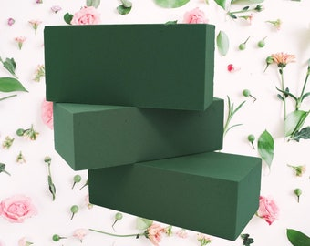 Fresh Flower Wet Foam Bricks - Floral Weddings Funerals Oasis Florex Floristry flower arranging DIY flower displays UK