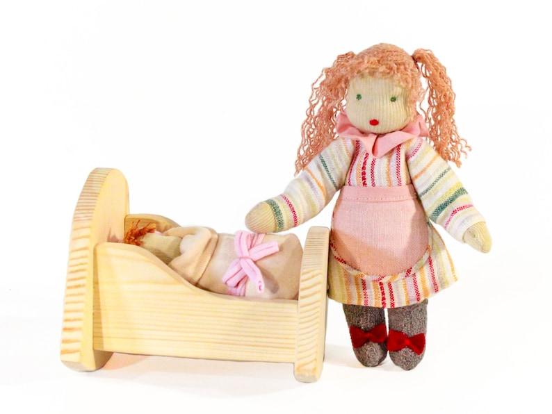 reborn kid doll rocking doll bed Waldorf doll