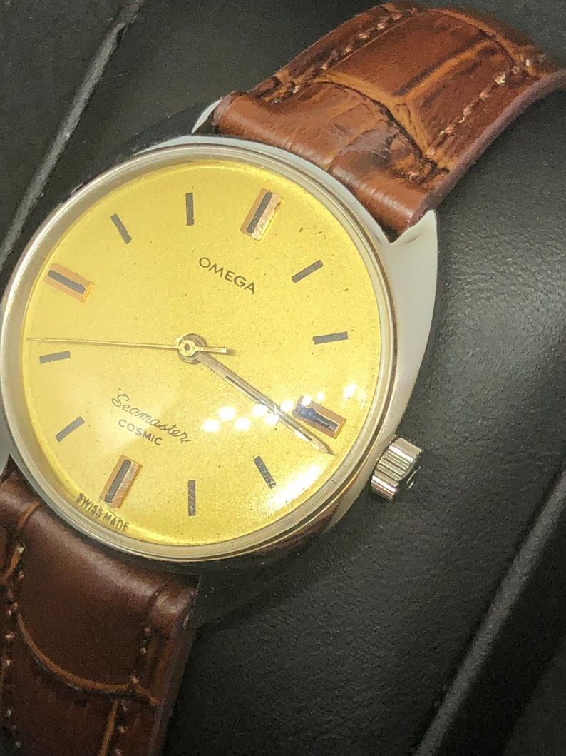 Vintage Omega Seamaster Cosmic Swiss Made Watch Etsy