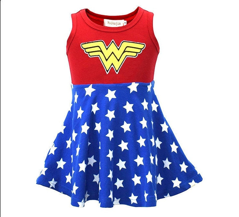 Women/'s Captain America Cotton//Spandex Tank Dress Blue