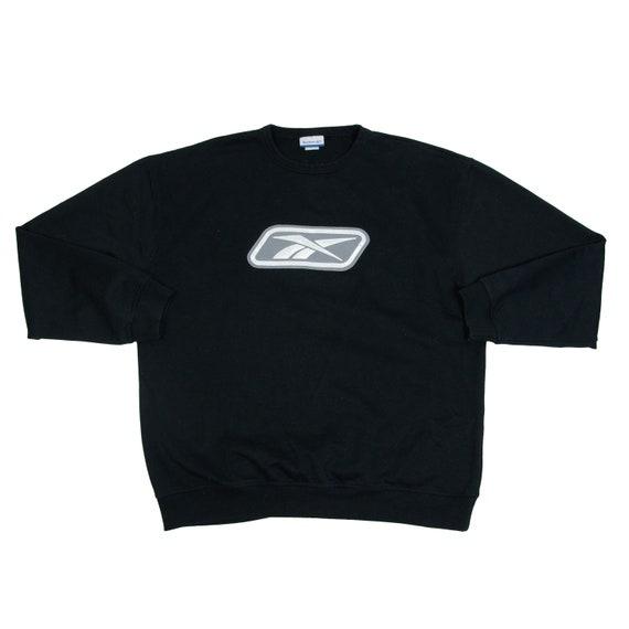 Vintage Reebok Athletic Sweatshirt Black Baggy Cre