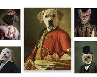 Alice /& Wonderland Custom Cat Portrait Custom Dog Portrait Mad Hatter PET PORTRAIT