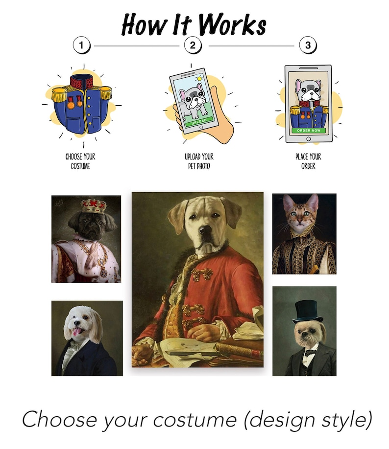 Royal Pet Portraits  Dogs  Cats  Custom Artwork Of Your image 0