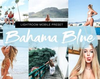BAHAMA BLUE Mobile Lightroom Preset, Blogger Lifestyle Instagram Influencer