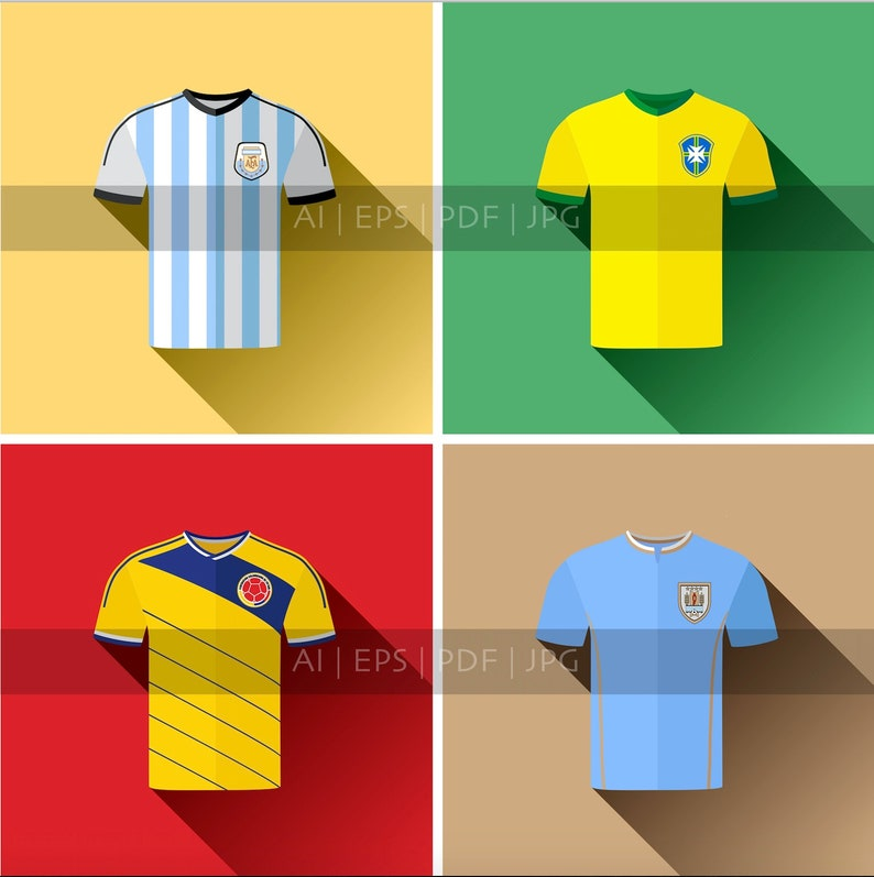 size 40 ac790 cc2f2 Brazil, Argentina, Colombia and Uruguay National Football Team Jerseys
