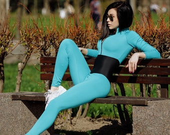 ef41fe54b079 Jumpsuit for Workout One Piece Sexy Activewear Gym Bodysuit Yoga Workout  Sportswear Catsuit Bodysuit Workout Outfit Gym Wear