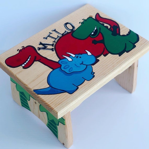 Custom Design Hand Painted Kids Step Stool LOCAL ORDERS ONLY