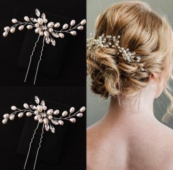 Hair Stick Peach SERAFINA Peach Quartz Hair pins Boho Hair Pins Gemstone Hairpins Stone Haircomb Bridal Hair Pins Wedding Hair pins