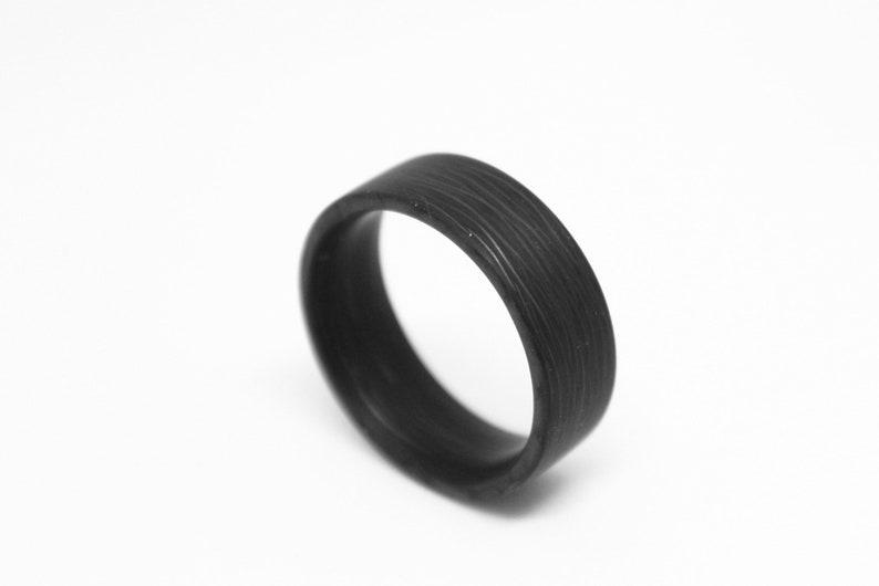 Gloss Carbon Fiber Wedding Ring