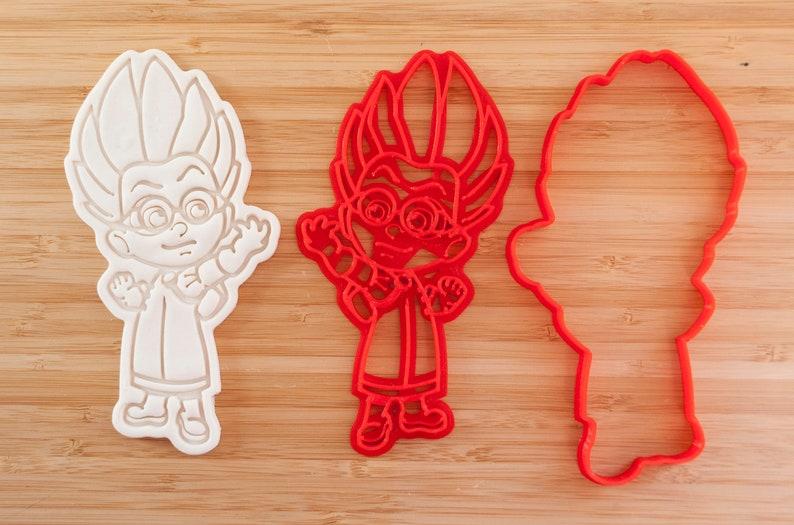 Night Ninja PJ masks cookie cutters Luna Girl and Romeo 3 pieces.