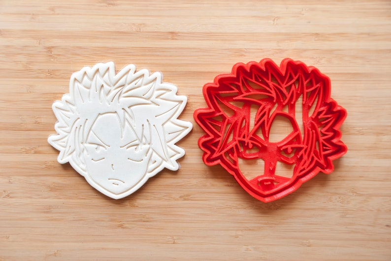 Japanese Anime Cookie. Natsu Dragneel cookie cutter Fairy Tail cookie cutter