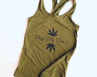 Ladies White 420 Clock Vest Medical Marijuana Stoner Weed Festival Tank Top