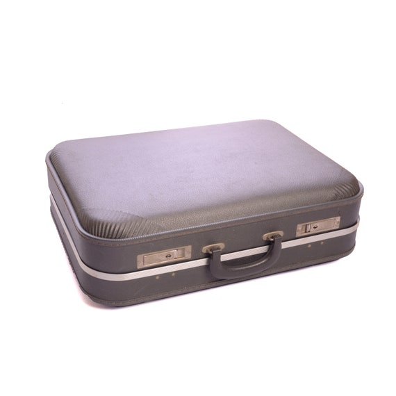 Hard Shell Gray 1970's Suitcase