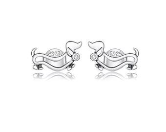 DACKEL DACHSHUND Ohrringe earrings stainless steel hooks