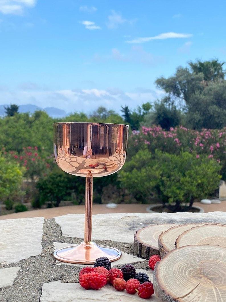 Copper wine tumbler Copper Wine Glass Bridesmaid tumbler 7th anniversary gift Copper anniversary personalized gift for Bridesmaid gift
