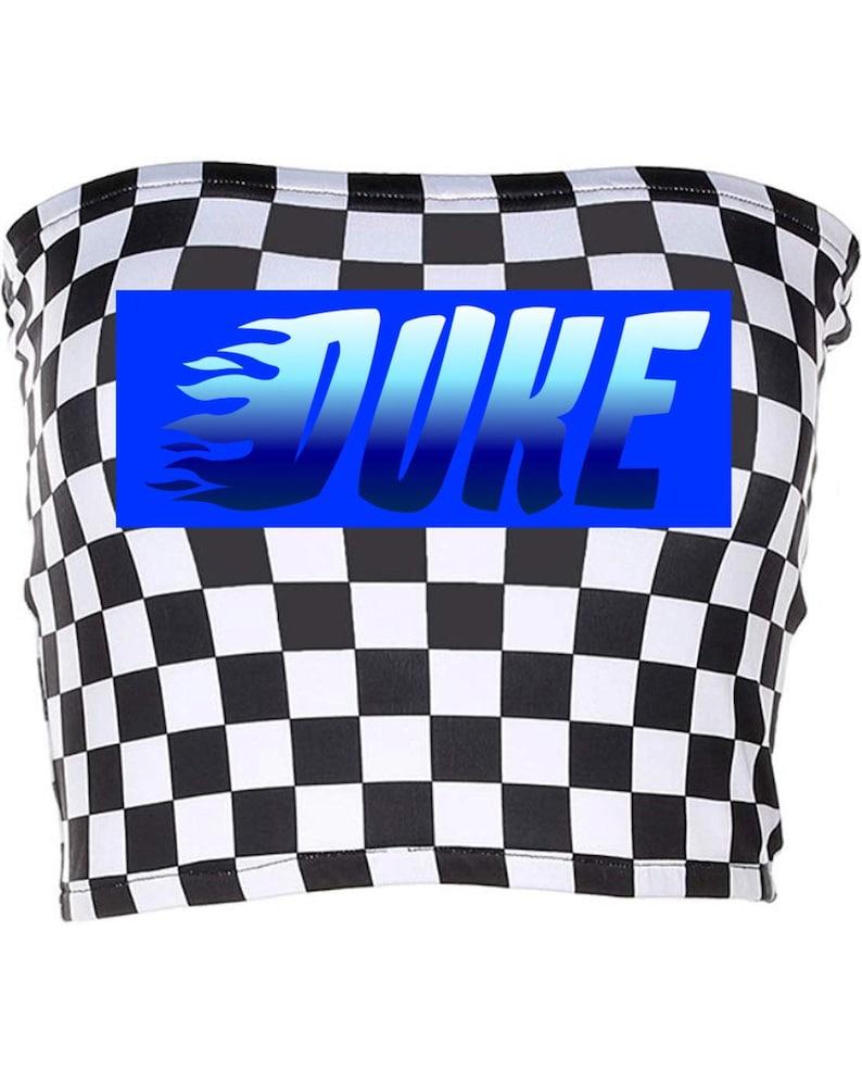 checkered tube top CUSTOM COLLEGE