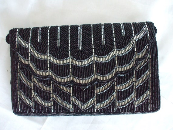Bonwit Teller - Beaded Clutch Purse - Vintage - Ha