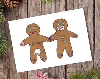 Mrs. and Mr. Ginger Card, Naughty Holiday Gift, Funny Christmas Greeting Card