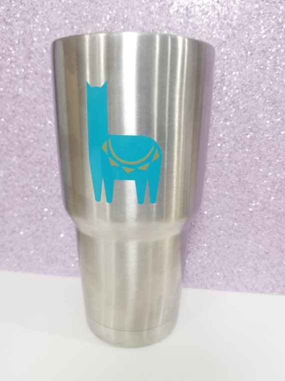 Llama Vinyl Sticker Yeti Cup Cling Stainless Steel Tumbler Decal Free Shipping