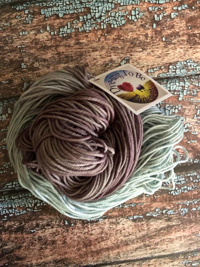 Hand Dyed Yarn Frostbite Aran