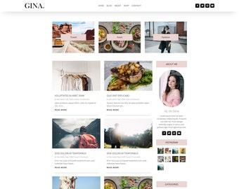 Gina wordpress theme   blog theme   theme for bloggers   blog theme feminine