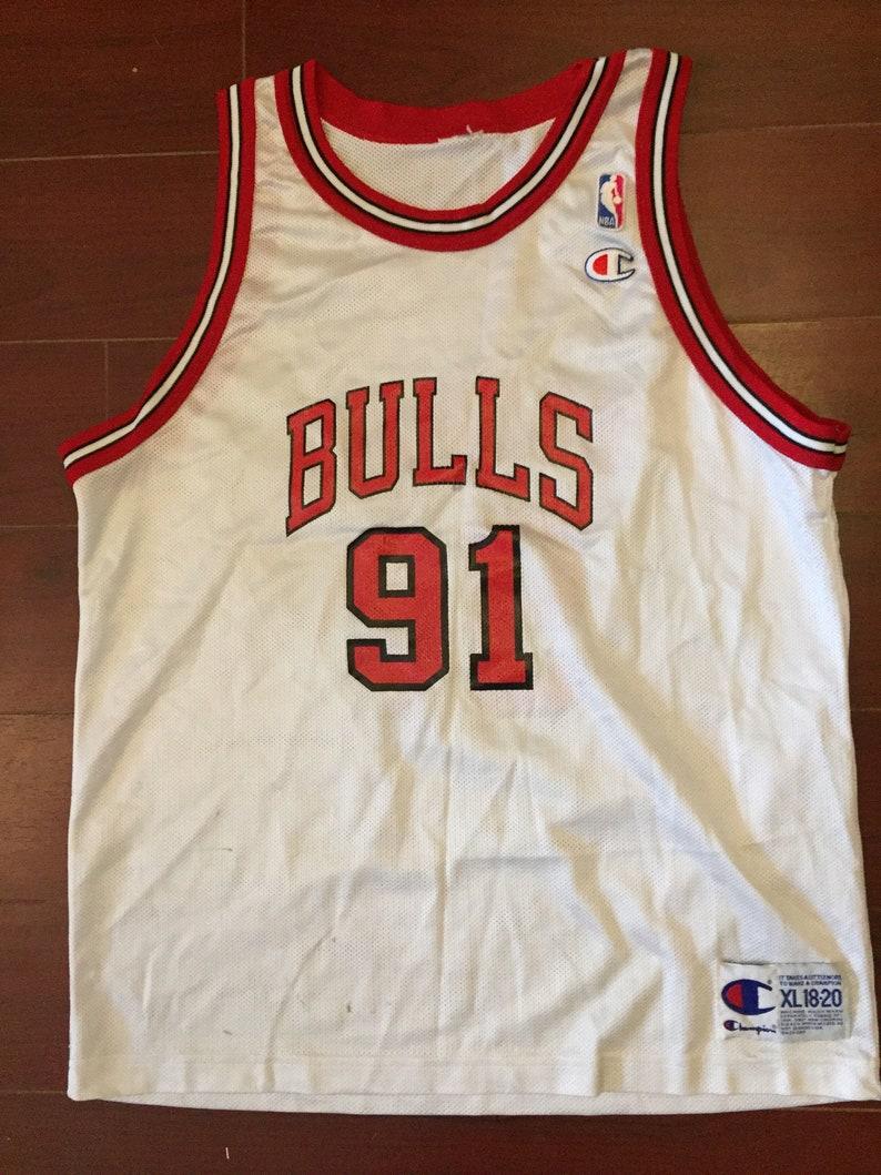 new arrival 2e818 82b8c 90s Dennis Rodman Chicago Bulls Champion vintage jersey