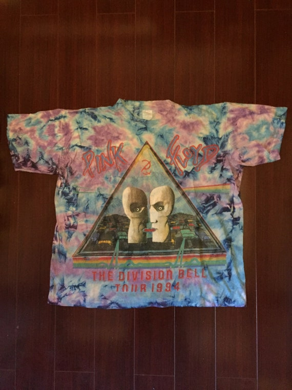 1994 Pink Floyd The Division Bell Tour tie dye vin