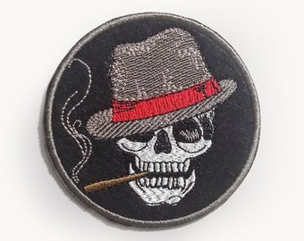 mushroom,weed,hemp Grass is greener sew on patch skull stoner rock desert,acid