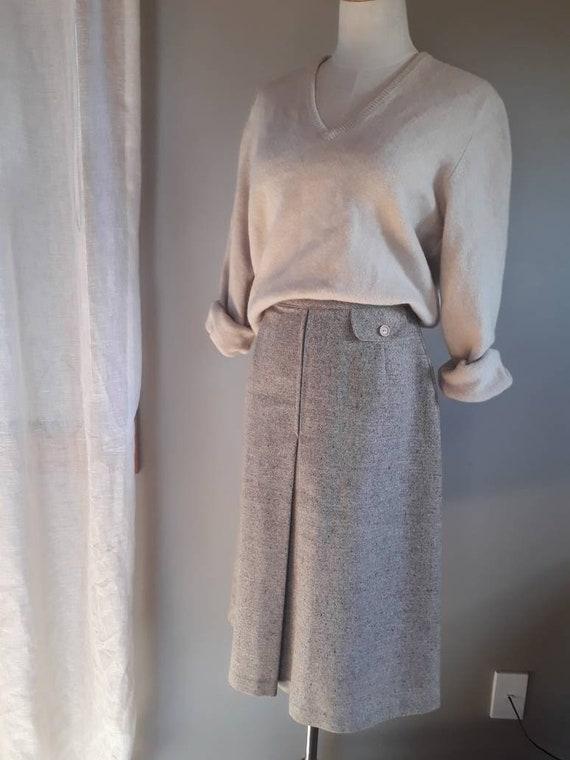 Vintage Tweed High Waisted Skirt S