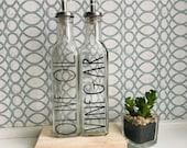 Olive Oil and Vinegar Set, Olive Oil Set, Olive Oil and Vinegar Dispensers, Glass Olive Oil Dispensers, Rae Dunn inspired