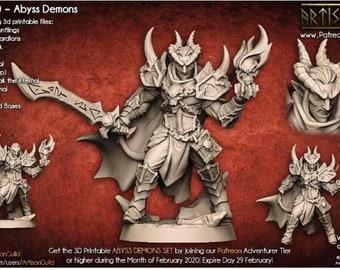 Ildamos Half Blood! Demon Champion! Tiefling! - Resin Miniatures - Dungeons and Dragons - DnD - Pathfinder - Mini - 15mm - 28mm - 32mm