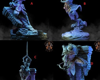 Deathknight Shadowblades! - Resin Miniatures - DnD - Dungeons and Dragons - Pathfinder - 15mm - 28mm - 32mm