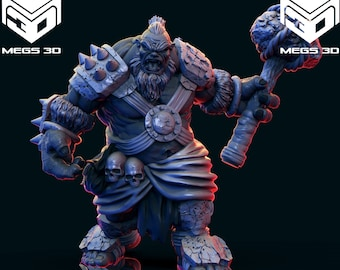 Ogres! - Resin Miniature - Dungeons and Dragons - Pathfinder - Mini - 15mm - 28mm - 32mm