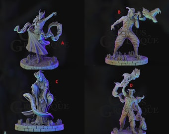 Chaval Tieflings! A Circus Grotesque! - Resin Miniatures - DnD - Dungeons and Dragons - Pathfinder - 15mm - 28mm - 32mm