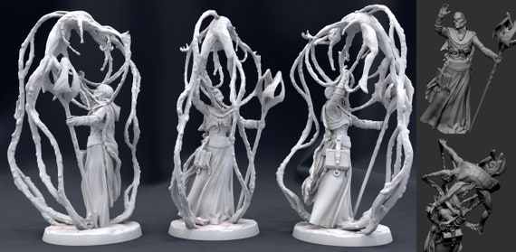 Mini Resin Miniature Lich Giant 15mm 28mm Lich King! Dungeons and Dragons Pathfinder 32mm