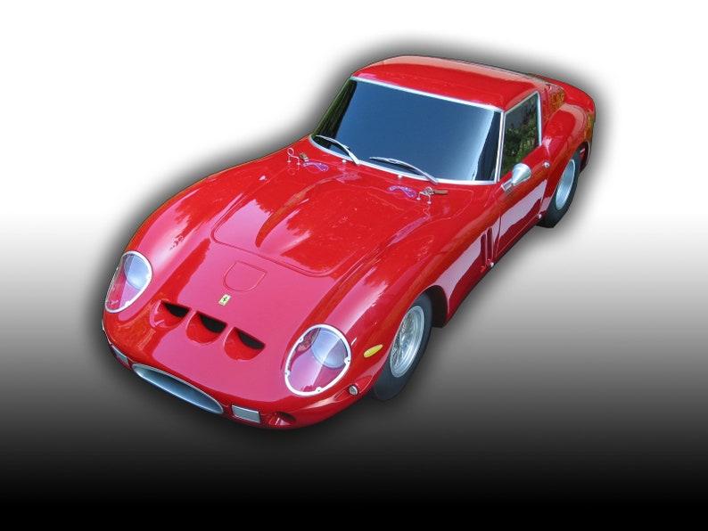 Model Car Ferrari 250 GTO scale 1:4 Custom Made to order Handmade Resin