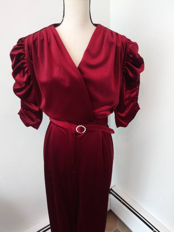 1980's velour jumpsuit