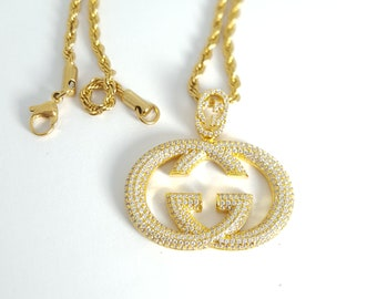 7b746b91233 Hypebeast Hip-Hop Accessories Necklace Gold GUCCI