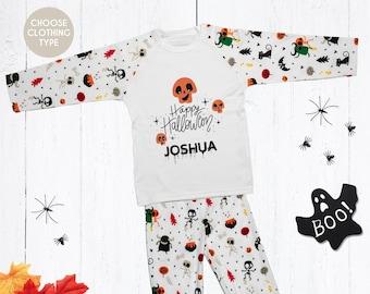 Personalised Halloween Pyjamas, Babygrow, T Shirt, Bodysuit, Onesie, Sleepsuit,, Baby, Kids, Clothing, Cute, 1st, First, My 1st,