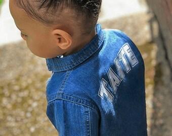 Infant Toddler Baby Varsity Jacket  Custom Baby Girl Boy Varsity Jacket  Customized Toddler Birthday Jacket  Best Friend  Matching