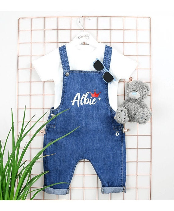Personalised Baby Dungarees Unique personaslied baby clothes