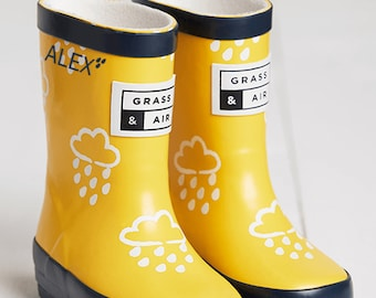 Personalised Baby and Toddler Colour Changing Wellies, Unisex, Autumn, Yellow, Baby, Toddler, Kids, Clothing, Wellies