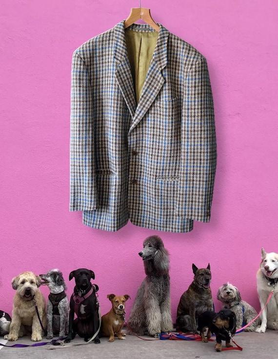 Unique Hugo Boss dogs tooth pattern woolen blazer,