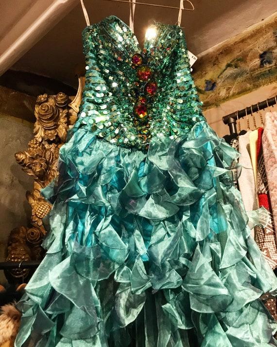 Unique Sherri Hill turquoise dress